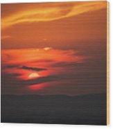Pa Sunset Wood Print