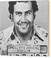 Pablo Escobar Mugshot Wood Print