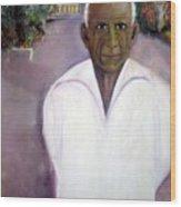 Pablo Picasso At Villa Mariposa Wood Print