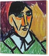 Pablo Picasso 1907 Self-portrait Remake Wood Print