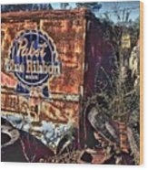 Pabst Blue Ribbon Delievery Truck Wood Print