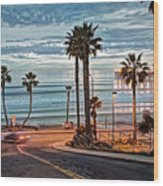 Pacific And 1st Street Wood Print