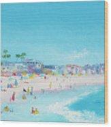 Pacific Beach In San Diego Wood Print