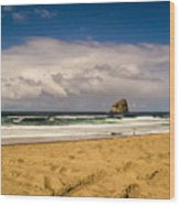 Pacific City Wood Print