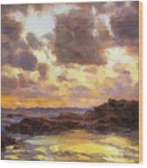 Pacific Clouds Wood Print