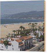 Pacific Coast Highway Along Santa Monica Beach Wood Print