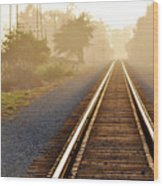 Pacific Coast Starlight Railroad Wood Print