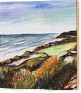 Pacific Dunes Golf Course Wood Print