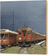 Pacific Electric Trolley, 5115, 316, Long Beach, California Wood Print