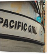 Pacific Girl Wood Print