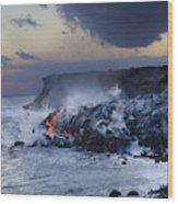 Pacific Lava Flow Wood Print