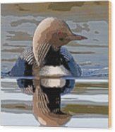Pacific Loon Making Waves- Abstract Wood Print by Tim Grams
