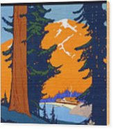 Pacific Northwest, American And Canadian Rockies, National Park Wood Print