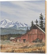 Pacific Northwest Landscape Wood Print by James Williamson