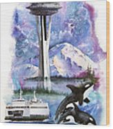 Pacific Northwest Montage  Wood Print