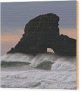 Pacific Northwest Waves Wood Print