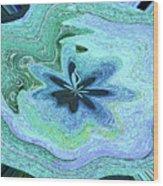 Pacific Ocean After Warping Wood Print