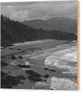 Pacific Ocean Moody Scenic Wood Print