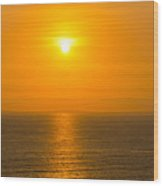 Pacific Ocean Sunset Wood Print