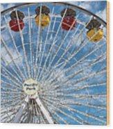 Pacific Park Ferris Wheel Wood Print