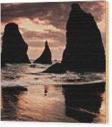 Pacific Pillars Wood Print