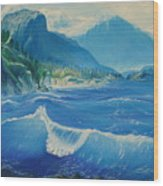 Pacific Wave Wood Print