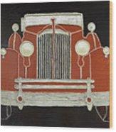 Packard 1937 Red Wood Print