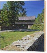 Packard Hill Covered Bridge - Lebanon New Hampshire  Wood Print