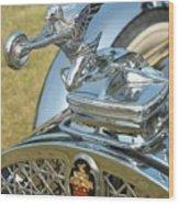 Packard Hood Ornament Wood Print