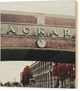 Packard Plant Wood Print