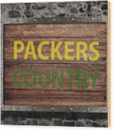 Packers Country Medieval  Wood Print