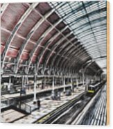Paddington Station London Sketch Wood Print