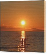 Paddle Boarders Wood Print