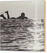 Paddle Out Wood Print