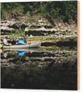 Paddle The Suwannee Wood Print