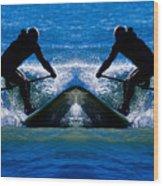 Paddleboarding X 2 Wood Print