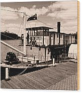 Paddlesteamer Wood Print