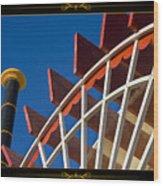 Paddlewheel With Border Wood Print