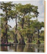 Paddling In The Bayou Wood Print