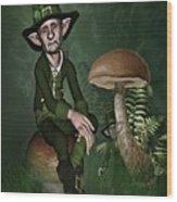 Irish Forklore Wood Print