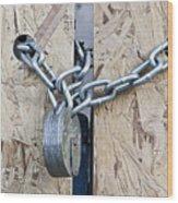 Padlock And Chain Wood Print