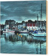 Padstow Harbour At Dusk Wood Print