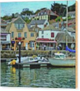Padstow Harbour Slipway - P4a16023 Wood Print