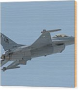 Paf F16 Independance Day Fly Past Wood Print