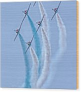 Paf Shedilaerobatic Team Formation Flight Wood Print
