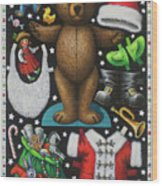 Page 1 Of 2 Teddy Bear Santa Claus Paper Doll Wood Print