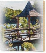 Pagoda Over The Lake Wood Print