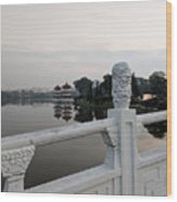 Pagoda Reflection In Chinese Garden Singapore Wood Print