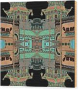 Pagoda Tower Becomes Chinese Lantern 1 Chinatown Chicago Wood Print