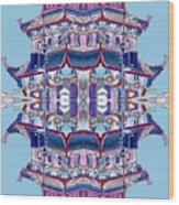 Pagoda Tower Becomes Chinese Lantern 2 Chinatown Chicago Wood Print by Marianne Dow